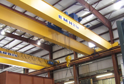 Double Structural Girder Top Running Overhead Cranes Emh
