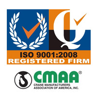 Crane Manufacturers Association of America (CMAA)ISO 9001:2008 certified